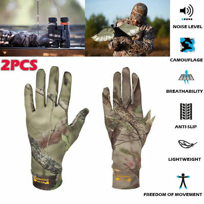 2 Pair Men Amy Military Camouflage Tactical Hunting Fishing Shooting Gloves