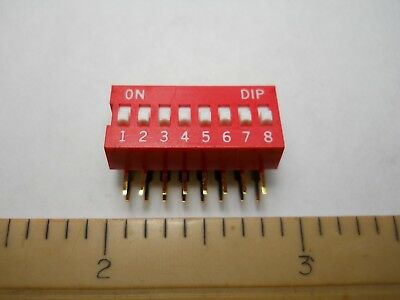 Dip Switch,Right Angle SPST, 8 Position 30-11081(New Old Stock)(QTY 2 ea)OFC