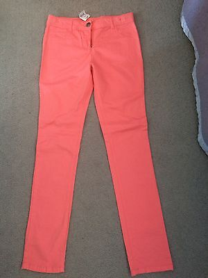 Girls Coloured Jeans - Coral - Size 14 - Bnwt