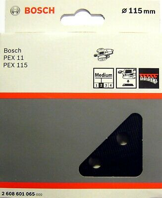 Bosch MEDIUM Sanding Pad 115mm Rubber Base Plate for PEX 11 115 A AE 2608601065