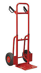 Sealey Cst801 Sack Truck With Pneumatic Tyres 200Kg Folding