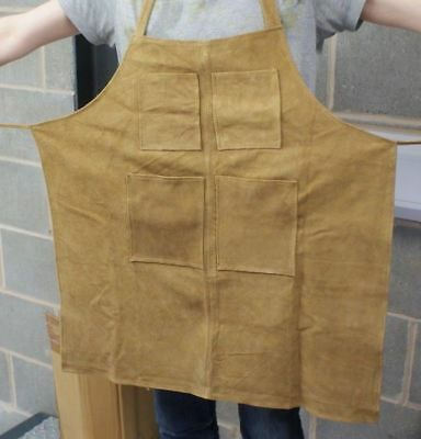 Suede Leather work apron watchmakers jewellers blacksmiths welders overall work