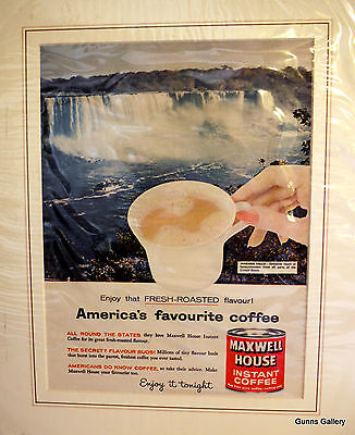 Original Vintage Advert  Maxwell House America's favourite coffee Niagara Fall