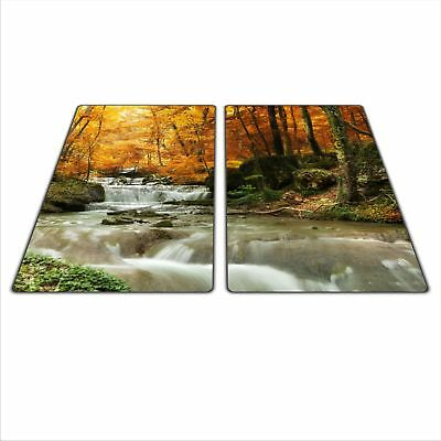 Glass Chopping Board induction Ceramic A levé Cover Worktop Saver 60x52cm Water