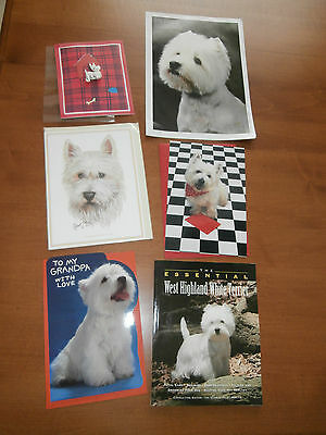 6 West Highland Terrier Item-Lot All New-Book~Greeting Cards~Centerfold:)