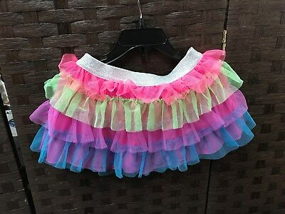 NWT! Cute Danskin Freestyle colorful tulle layered tutu skirt - XS 4/5 FREE SHIP