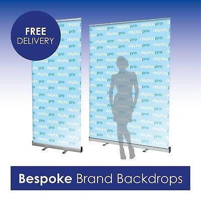 Roller Banners Pop Up Display Stand Bespoke Printed Logo Brand Backdrop Included