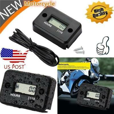 New Digital Motorcycle Counter Hour Meter For 2/4 Stroke Gas Motor Waterproof FZ