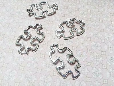 50 Puzzle Piece Charms Puzzle Pendant Connectors Autism Awareness Charms BULK