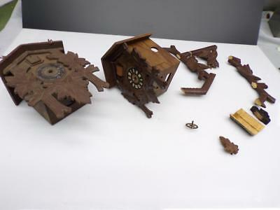 Black Forest German-Made Cuckoo Clock Cases Schwer Movement Parts Repair d037