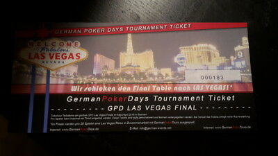 "German Poker Days ""GPD LAS VEGAS FINAL"" Ticket"