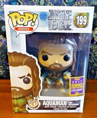 Funko POP! Heroes DC Justice League Aquaman and Motherbox 199 Exclusive *NEW*