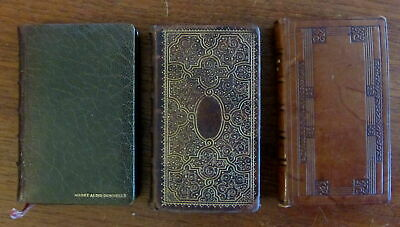 Leather bindings c.1908-1912 pocket sized Grolier 3 lovely old decorative books