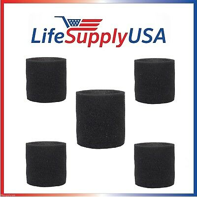 5 Pack Foam Sleeve Filters fit Shop Vac 90585, 9058500, 905-85, Type R + most