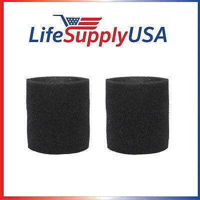 2 Pack Foam Sleeve Filters fit Shop Vac 90585, 9058500, 905-85, Type R + most