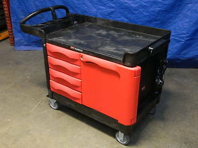 Rubbermaid Commercial TradeMaster Utility Cart w/ 4 Drawers and Cabinet 4533-88