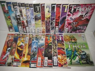 The MIGHTY THOR 2011 Series 1-22 Complete Set 24-Book Set/Run Marvel Comic