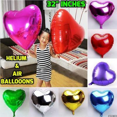 "32"" Giant Red Heart Foil Helium Balloons Valentines Day Wedding Party Engagement"