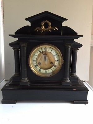 Old Antique Mantel Chiming Clock