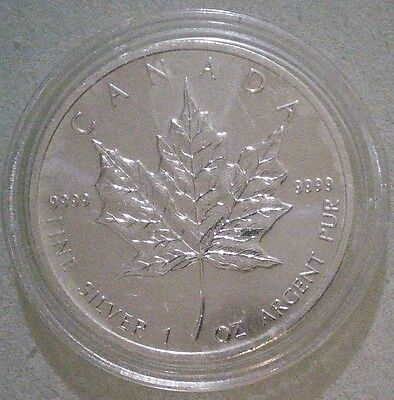 1oz Canadian Maple Leaf 2013 Silver Bullion Coin - 99.99% purity