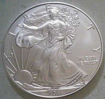 4 x 1oz US Walking Liberty 2011 Silver Bullion Coin - 99.99% purity