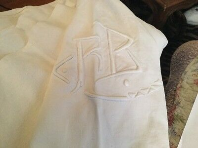 Antique French Linen & Cotton Sheet Monogrammed R B