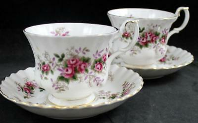 Royal Albert LAVENDER ROSE 2 Cup & Saucer Sets Bone China GREAT CONDITION