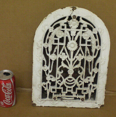 Antique Victorian Cast Iron heat Grate wall Vent Register Architectural Salvage