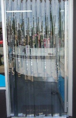 VermaRid PVC DOOR CURTAIN / INSECT 910mmw x 2100mml - 75mm Clear PVC strips