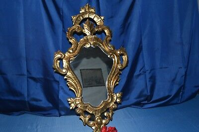 Beautiful Mirror Antique Wooden And Stucco Golden / 20 #
