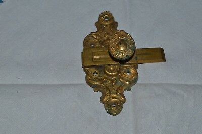 Antique Small Verrou / Flush Bolt Bronze Golden