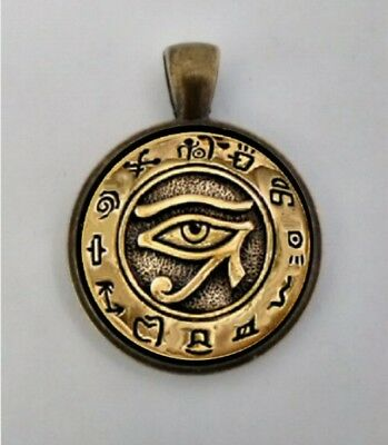 Egyptian  Eye of Horus,  Eye of Ra Pendant, Egyptian Eye of Horus Necklace.