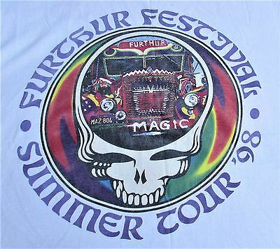 VTG FURTHER FESTIVAL 1998 T shirt The Other Ones, HOT TUNA, Rusted ROOT  xl