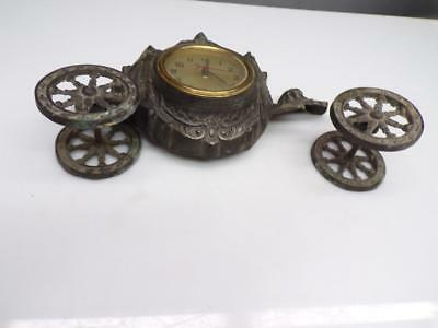 Vintage Horse and Carriage Mantel Clock with Cherubs United Clock Co. #640 F232