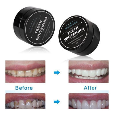 30g Activated Charcoal Teeth Whitening Powder Healthy Organic Bamboo Toothpaste