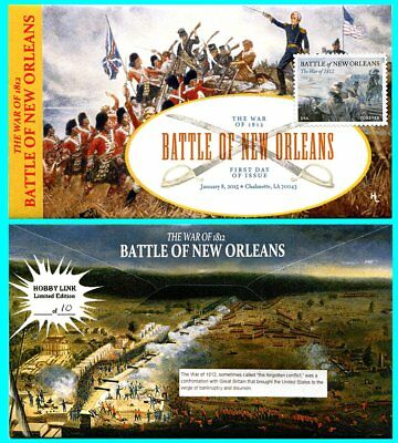 The War of 1812 Battle of New Orleans Type 2 First Day Cover with Color Cancel