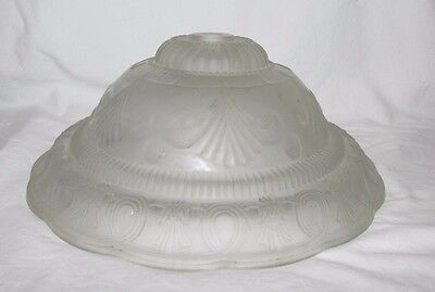 Vintage Round Decorative Clear Frosted Heavy Glass Ceiling Light Fixture Shade