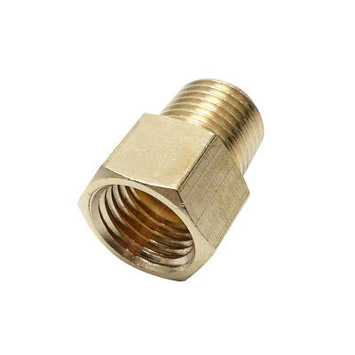 "Brass Pipe Fitting 3/8"" NPT Male x 3/8"" Female BSPP Adapter Fitting Euro to US"