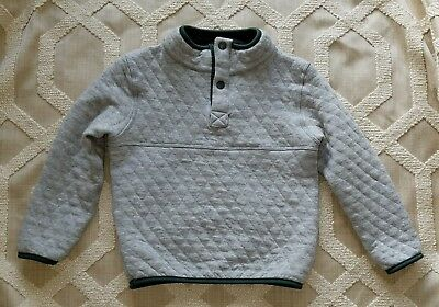 Marine Layer Corbet Reversible Fleece Pullover Sweater NWT Boy 12 Months Grey/Ch