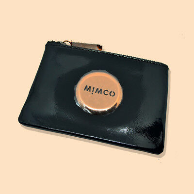 Mimco Black Rose Gold Small Pouch Wallet - Brand New