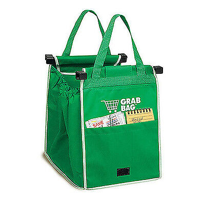 Shopping Bags Foldable Reusable Clip-To-Cart Supermarket Grocery Trolley AU