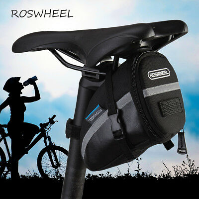 Bicycle Seat Saddle Bag Mountain Bike Pouch With Reflective Stripe Roswheel MTB