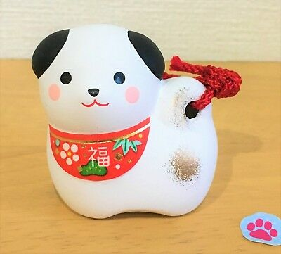 JAPAN CHINESE ZODIAC 2018 DOG YEAR Puppy Bell FENG SHUI Good Luck FIGURINE