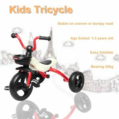 Kids Tricycle Little Bambino For Toddler 1-3 Years Old Trike Bike Red Colour