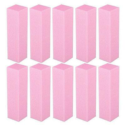 Fashion 10 Pcs Nail Art Manicure 4 Way Shiner Buffer Buffing Block Sanding File