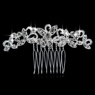 Wedding women hair bride Accessories Silver Hair Comb piece Clip Pin Bridal