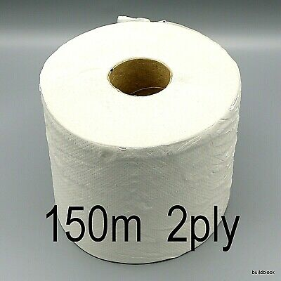2 Ply 150m Big Paper Roll Towel Office Cleaning glass wipe rag garage window wet