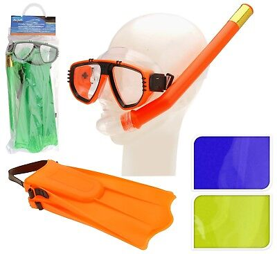 Junior Snorkelling Set Diving Mask Snorkel Fins Swimming Scuba Holiday Kids Set