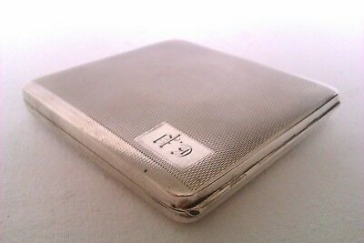 Stunning Solid Silver Art Deco Patent Cigarette Case William Neale Chester 1927