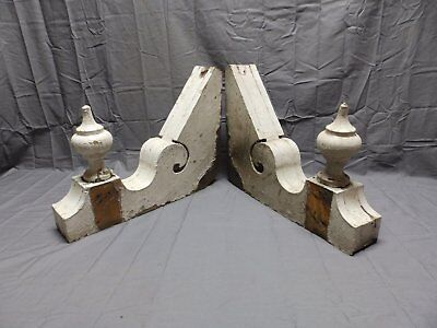 Large Antique Shabby Wood Victorian Corbels Roof Brackets Vtg Old Chic 297-18P